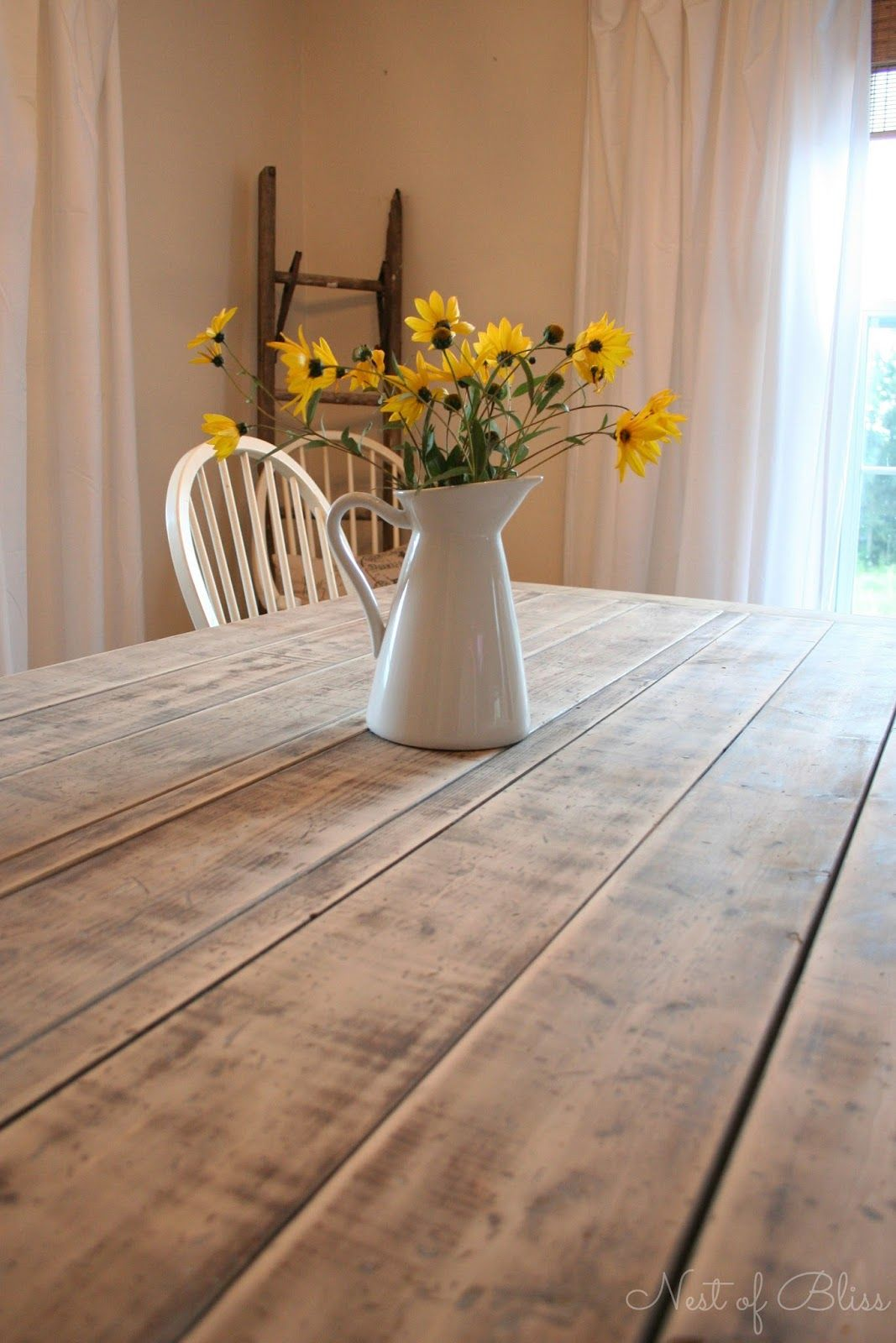 DIY Farmhouse Table Pinned This For The Lovely Finish Must Do