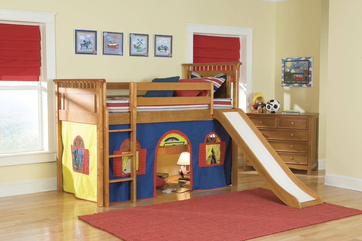 Loft Beds With Slides For Children Bunk Bed With Slide Cool