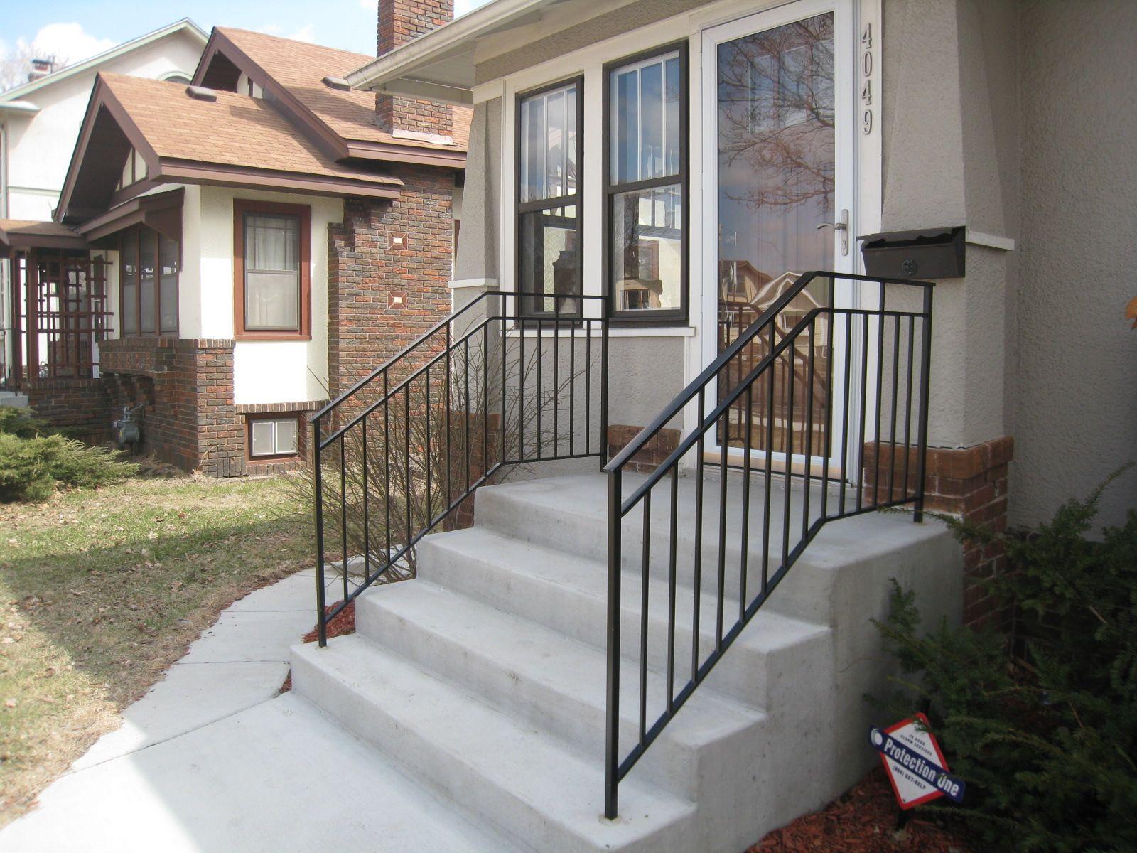 Exterior Step Railings - O'Brien Ornamental Iron | Step ...