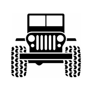 Jeeps Go Topless Tj Cj Wrangler offroad Truck decal window sticker vinyl
