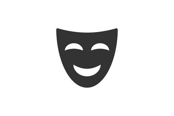 Comedy Mask Icon Flat Icon Icon Icon Design