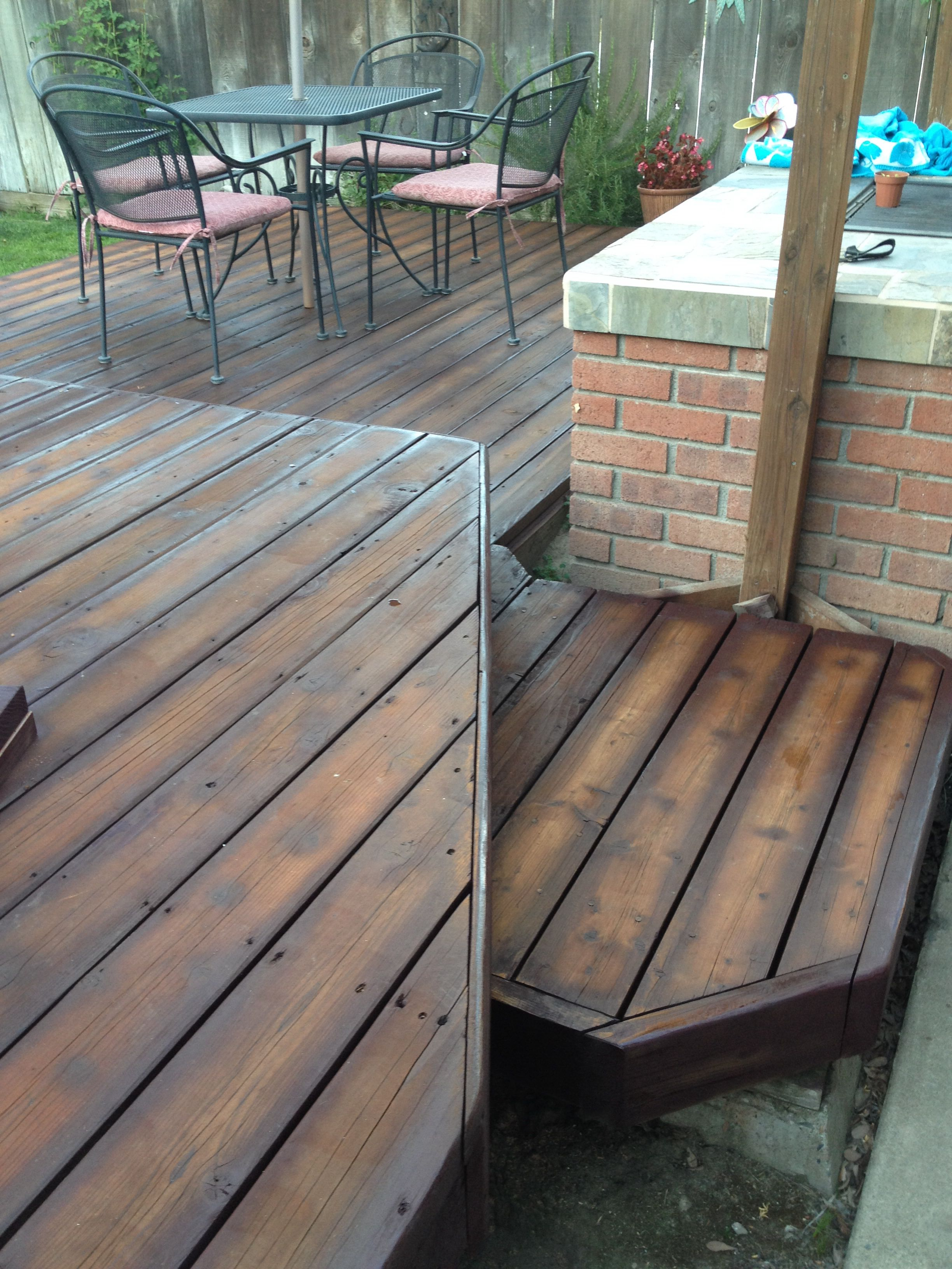 Re Finished Deck To Look Like Hardwood Flooring Pressure