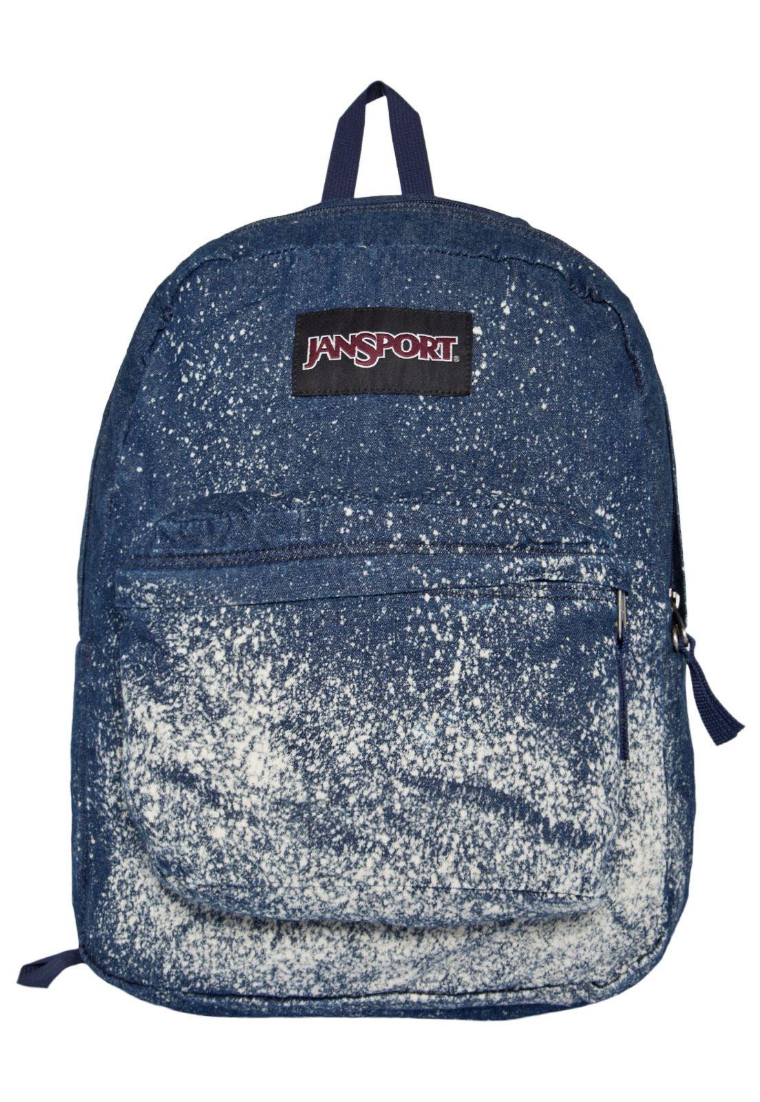 3daf9586dd1 Mochila Jeans Jansport Azul - Compre Agora