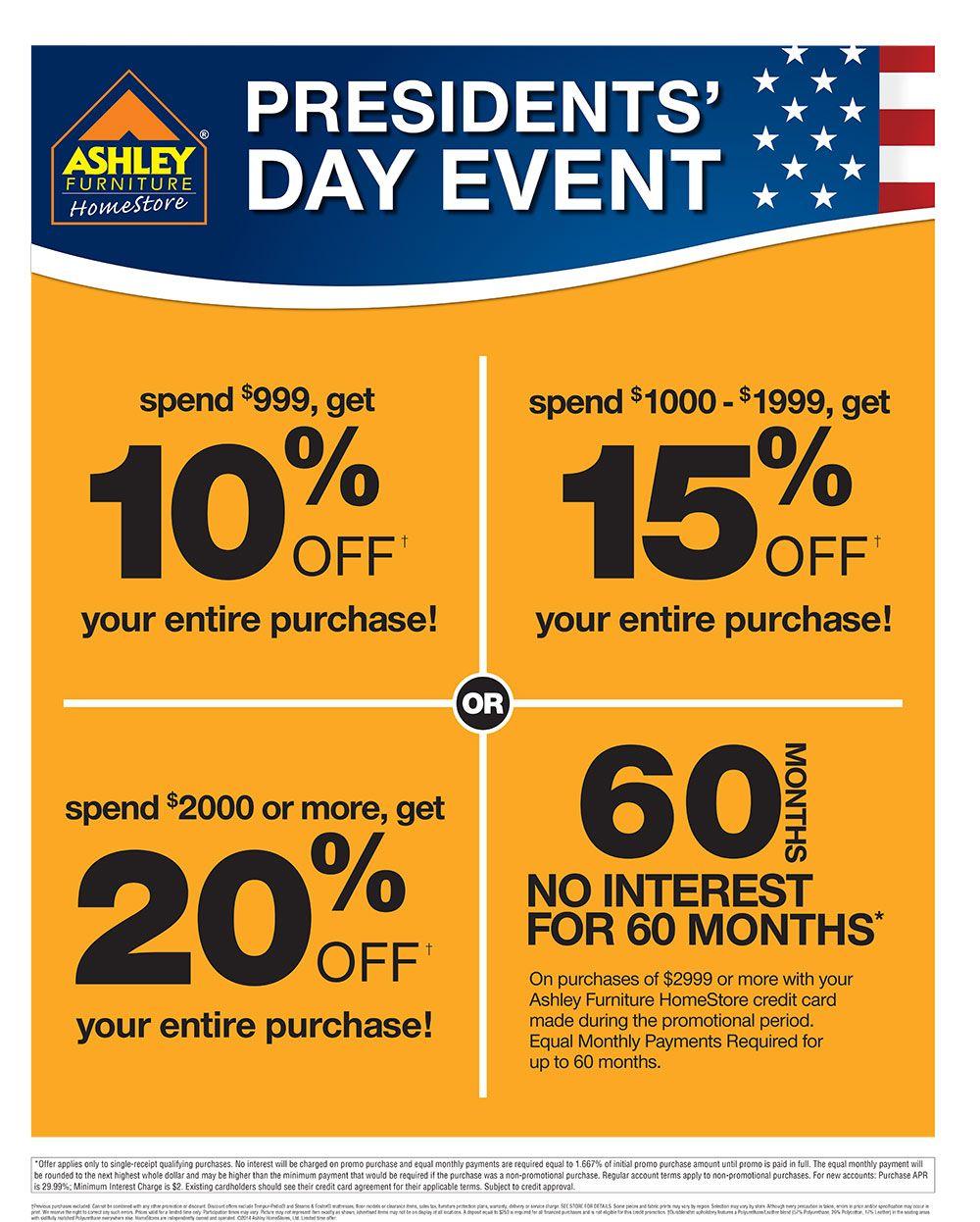 Presidentsu0027 Day Event At #AshleyFurniture In Richland, WA #PresidentsDay # Sale #