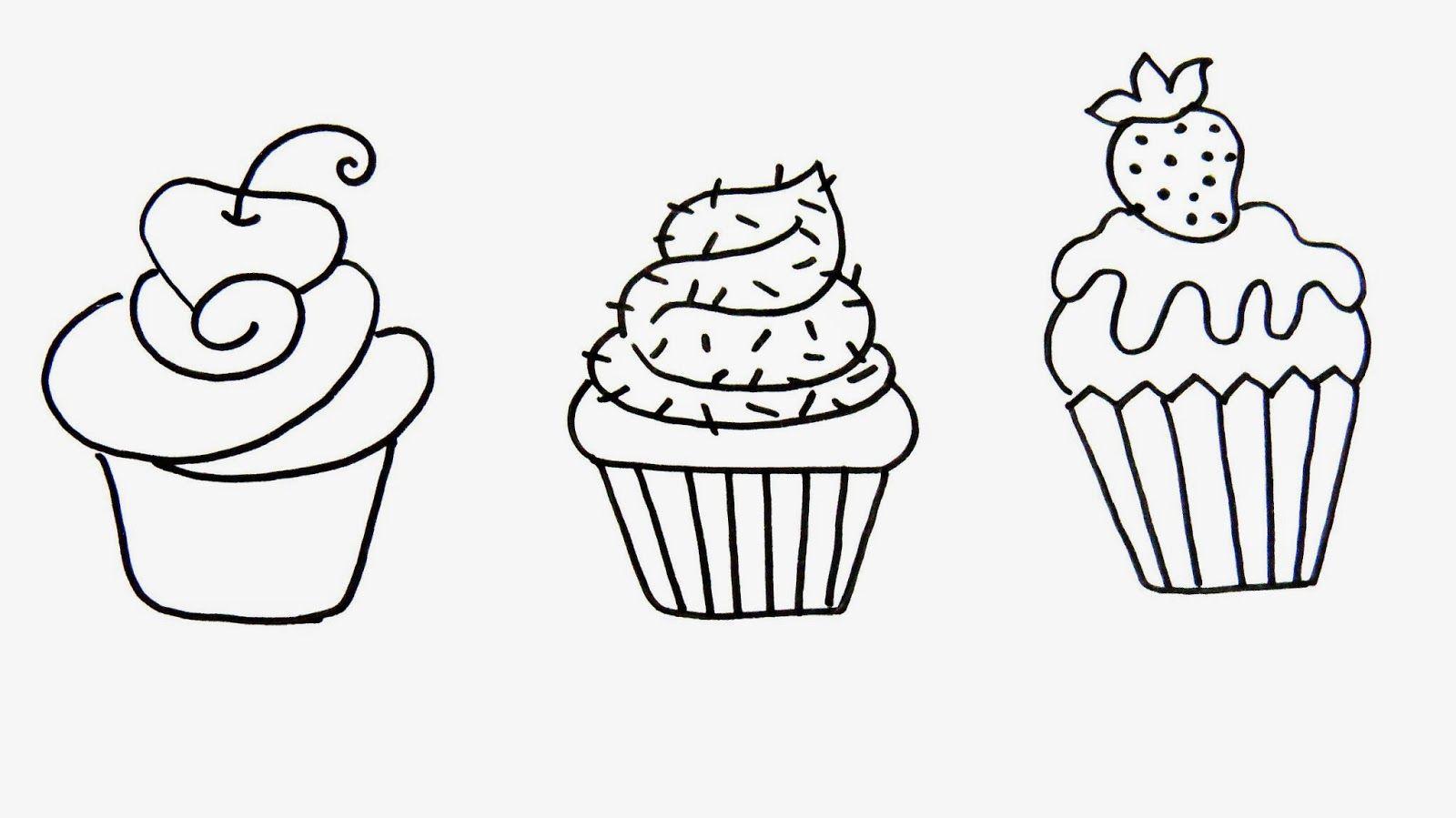 Artes Mariana Santos: Desenhos de Cupcake!