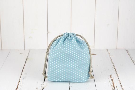 GOTS organic cotton pouch, eco-friendly gift wrapper, zero waste, usable as a bulk bag, small model,