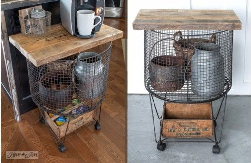 This Functional Vintage Utility Cart Would Make The Perfect