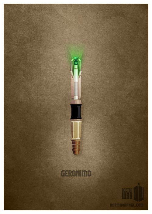 11th Doctor's Sonic Screwdriver print - Geronimo