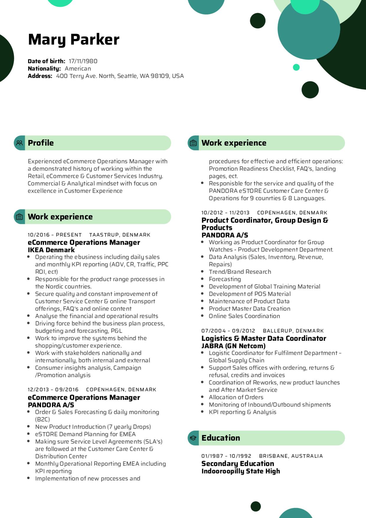 Ikea Ecommerce Operations Manager Resume Sample Operations Management Manager Resume Resume