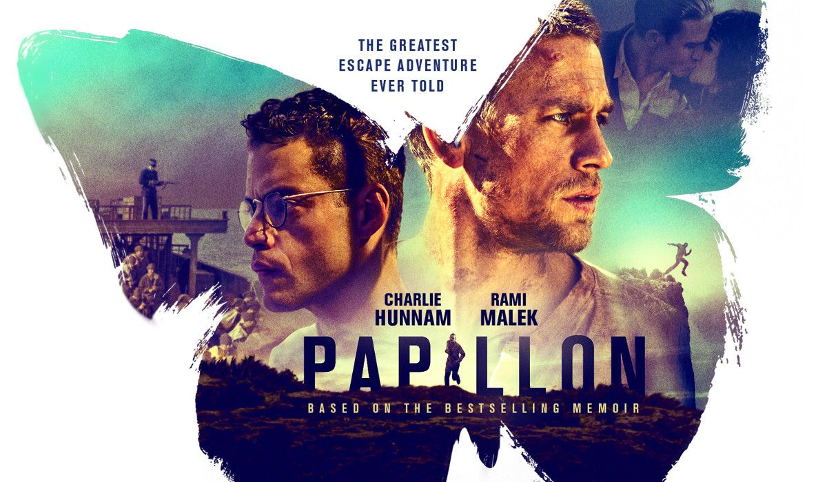 Papillon Official Movie Trailer Charlie hunnam, Movie