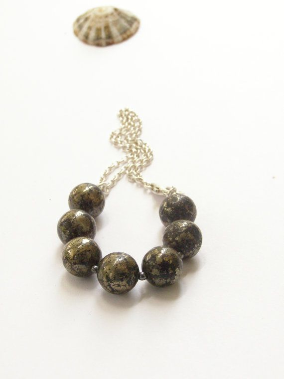 Free shipping Casual Pyrite bracelet on double by gembracelet, $20.00