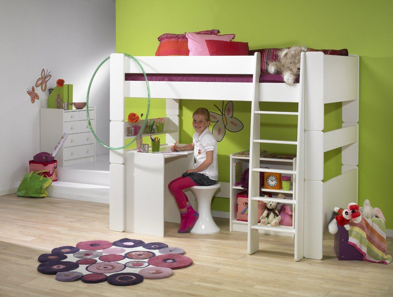 Etagenbett Derby : Steens for kids hochbett liegefläche 90x200 teilbar mdf weiß