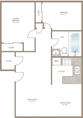 2 Bedroom Floor Plan Bloomington Apartments for rent at ...