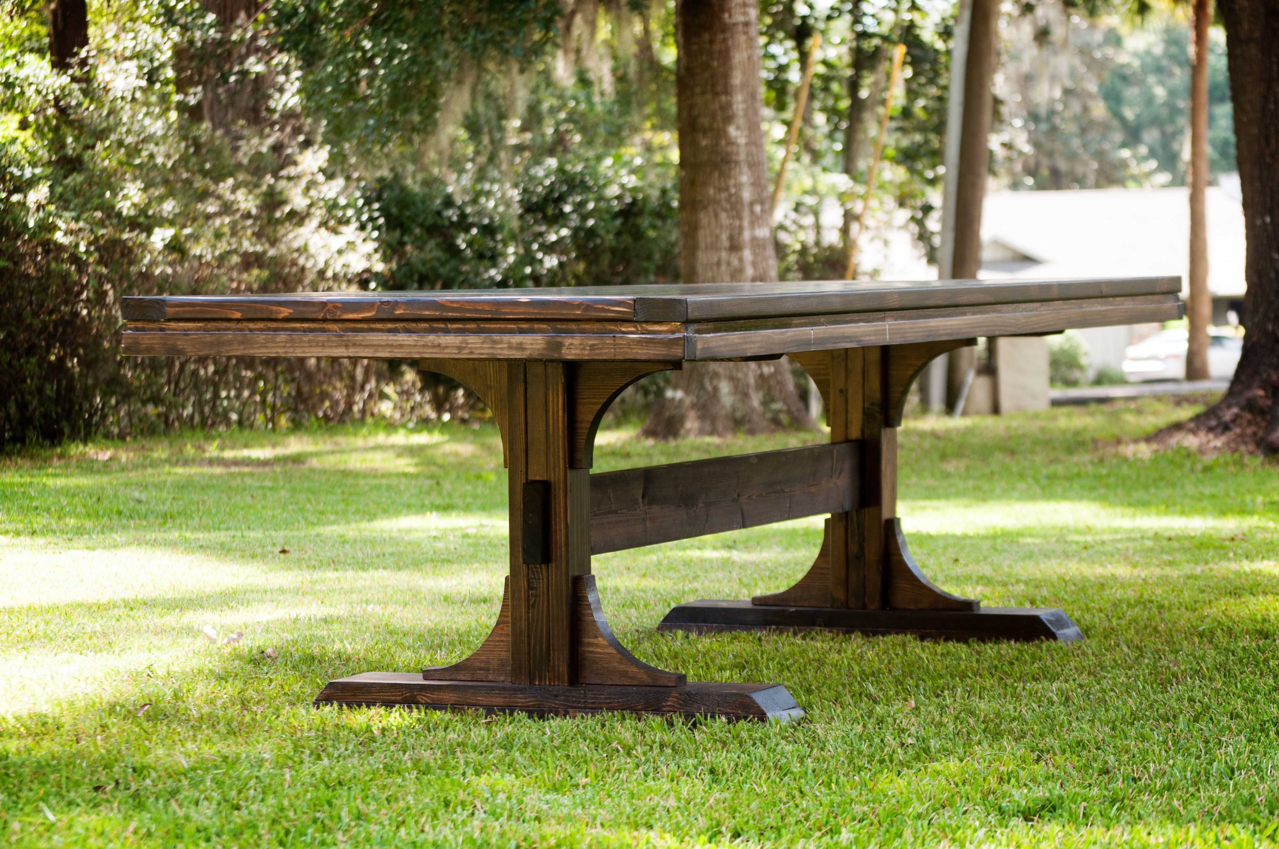 Double pedestal table table dining table farmhouse table