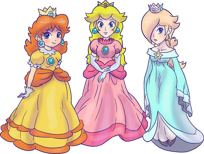 Princess Peach, Princess Daisy and Princess Rosalina.