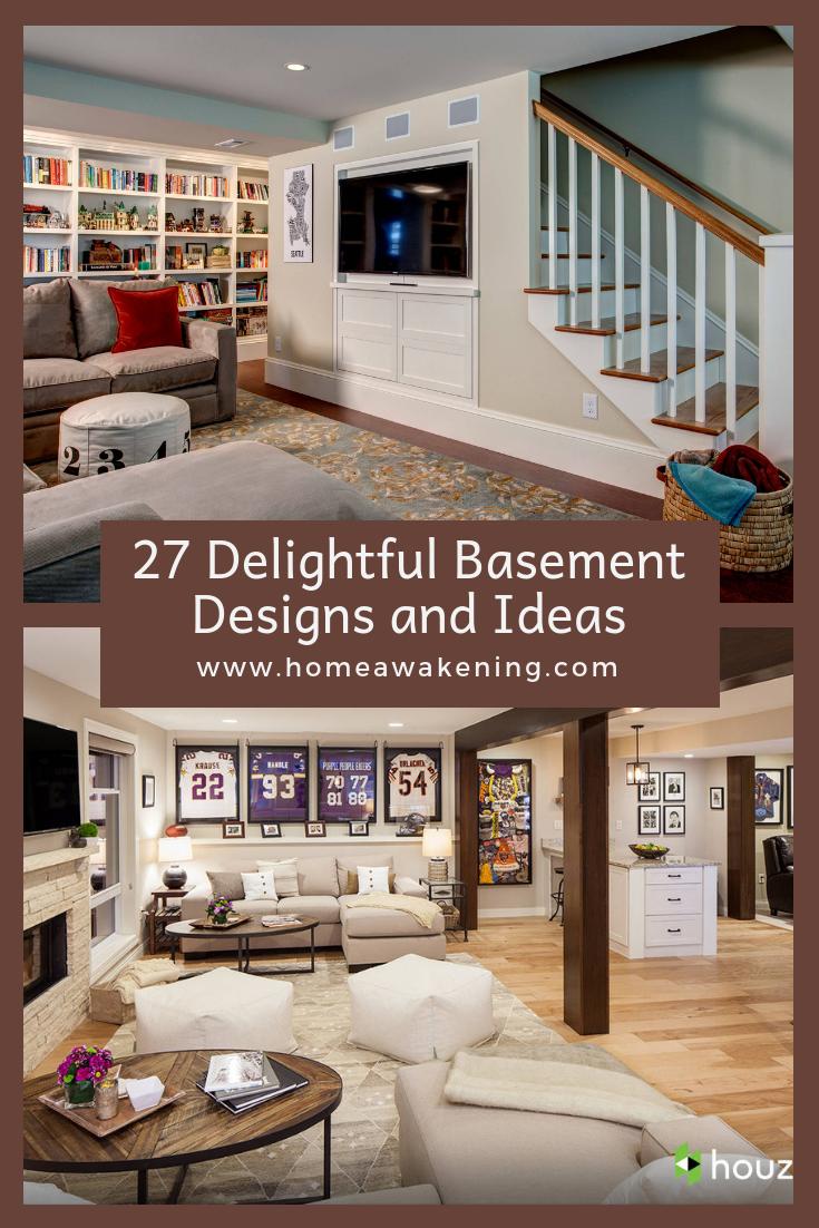 27 Delightful Basement Ideas Basement Finishedbasement Homedesign Basement Design Basement Remodeling Basement Remodel Diy