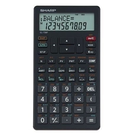 SHARP EL-738 Financial Calculator (Sharp EL738) recommended by - financial calculator