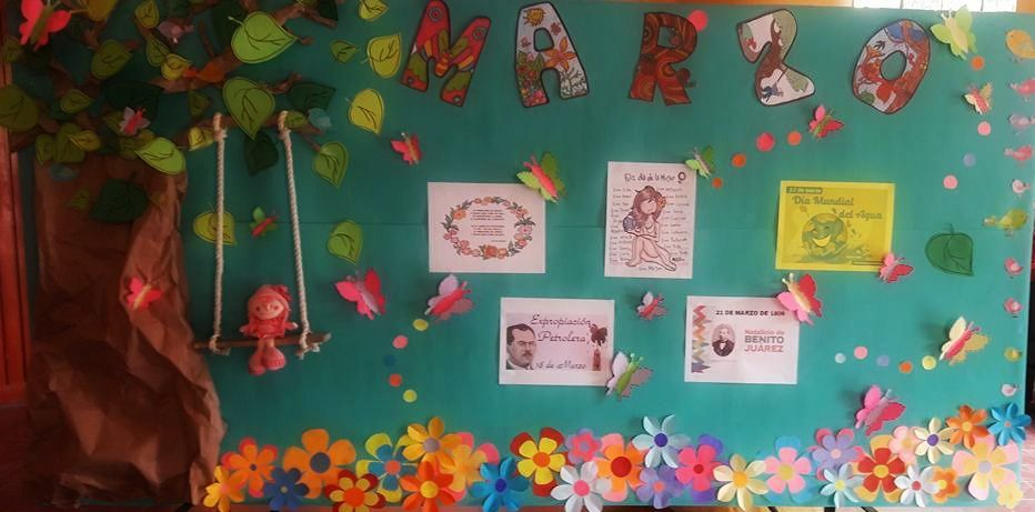 Peri dico mural del mes de marzo peri dicos murales for Contenido del periodico mural
