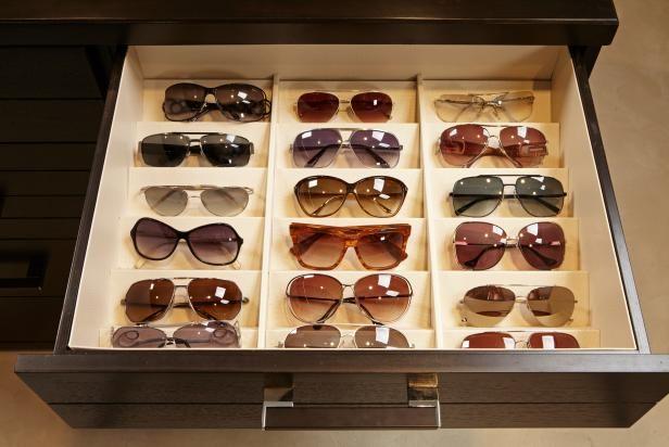348c4ffeb79 The organization experts at HGTV.com showcase a drawer insert for sunglasses .