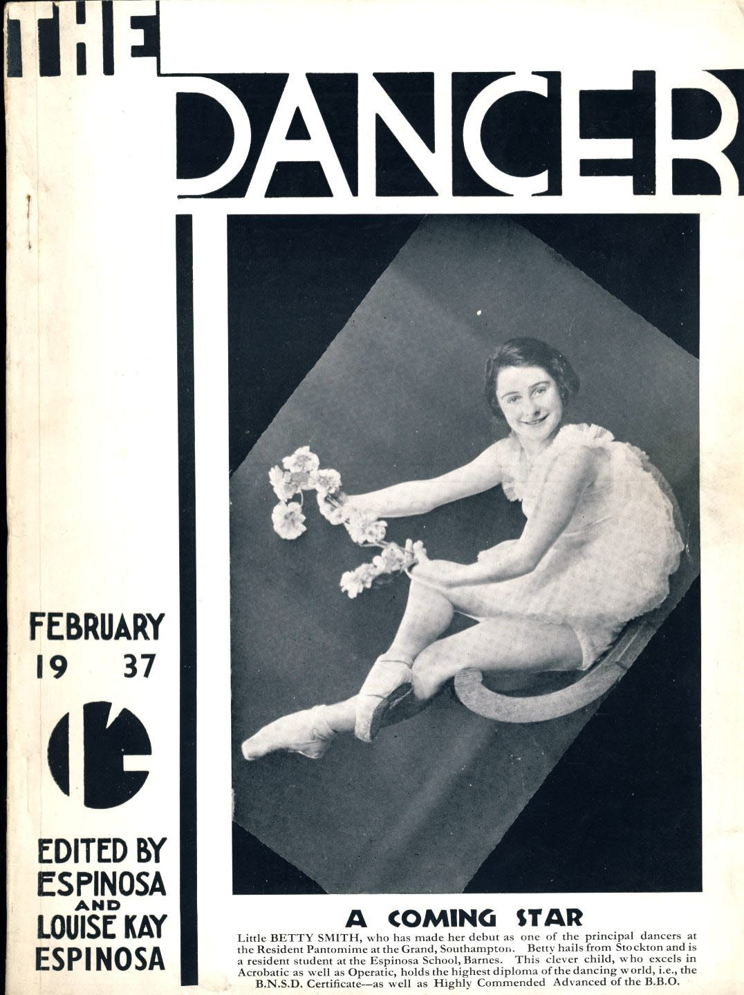 RARE ballet dancing magazine Feb 1937 The Dancer Betty Smith BBO ESPINOSA Louise Kay vintage ref030010,RARE ballet dancing magazine Feb 1937 The Dancer Betty Smith BBO ESPINOSA Louise Kay vintage ref030010 Official Journal of the British Ballet Organization containing articles and photos of students and graduates. Vintage adverts for dancing schools and some dance related suppliers. This is a...