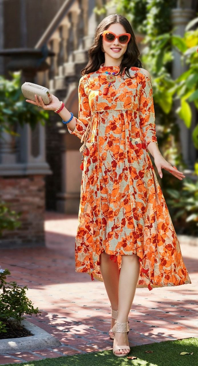 cde9eb10d6 Latest Attractive Casual Wear Kurti Designs For Ladies 2018-2019 ...