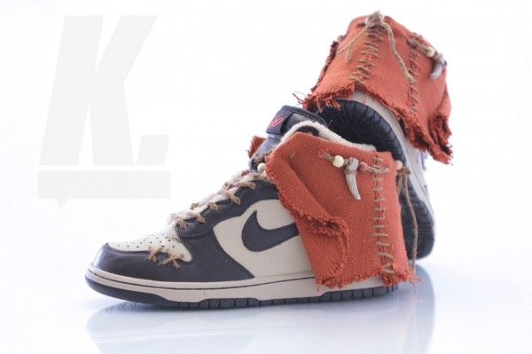 """Light Side"" Custom Ewok Nikes"