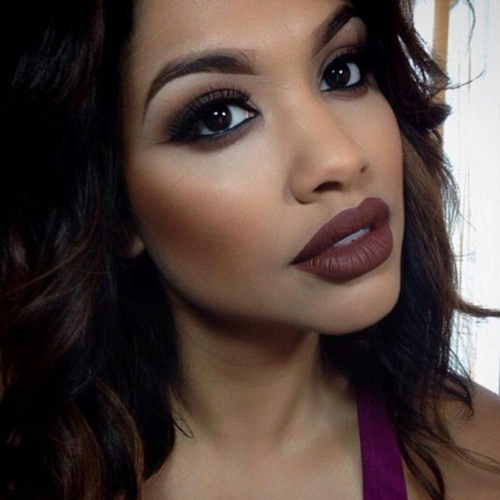 Instagram Insta Glam Brown Lipstick Lips Brown And Makeup