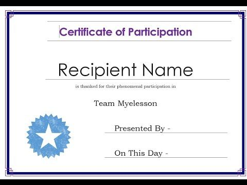 How to Create Certificate in Word ☑ MS Word Training Videos - create a certificate in word