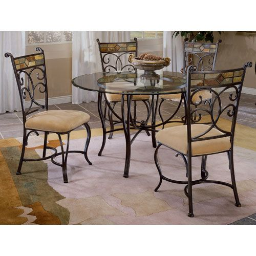 Hillsdale Pompei Black Goldslate Mosaic #diningtable Set Endearing Mosaic Dining Room Table Design Ideas