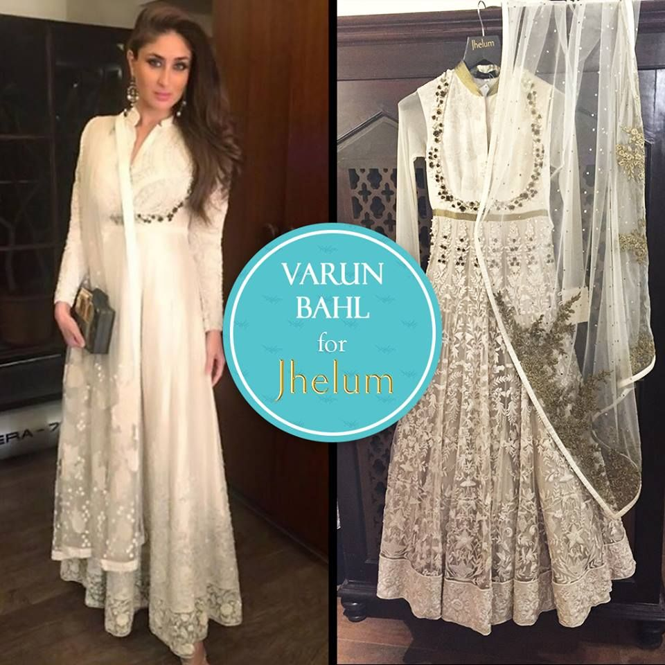 Show off that trim waist like Kareena Kapoor in this stunning ivory ...