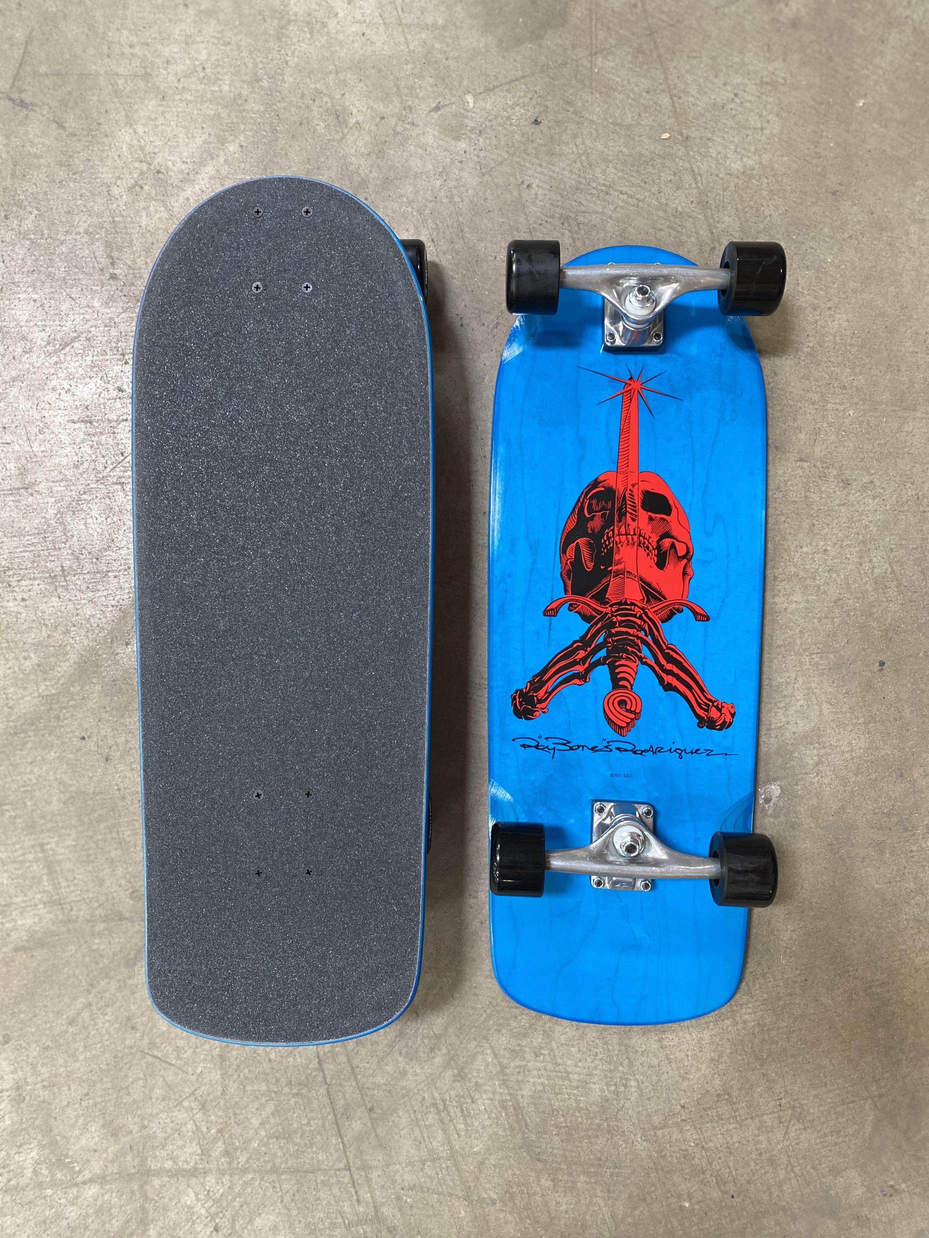 Powell Peralta Og Rodriguez Skull And Sword Skateboard Deck Blue 10 X 28 25 In 2020 Skateboard Powell Peralta Classic Skateboard