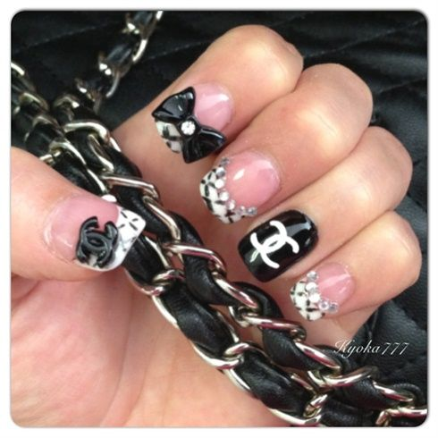 Chanelstylenails Nails Pinterest Style Nails Chanel Nails