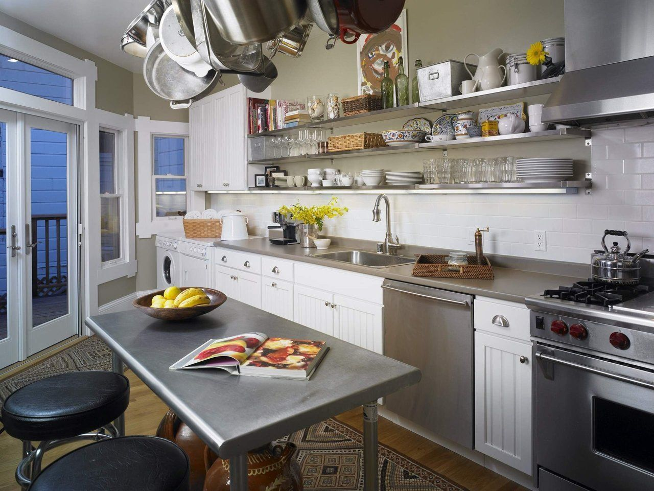 10 Lovely Efficient One Wall Kitchens Eclectic Kitchen Kitchen Remodel Small One Wall Kitchen