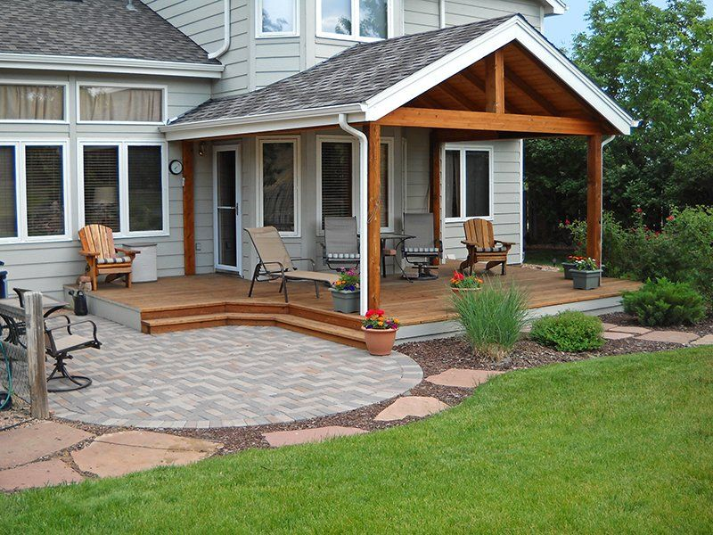 Deck Patio Combinations Decktec Outdoor Designs Patio Deck Designs Patio Backyard Porch