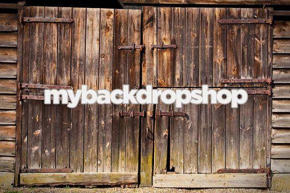 7ft X 5ft Rustic Barn Door Photo Backdrop Old Barn Etsy Door Backdrops Backdrops Rustic Barn Door