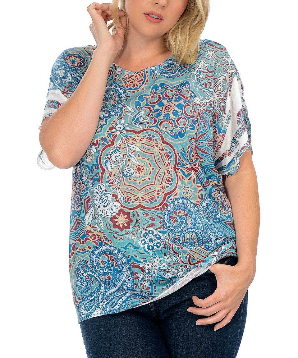 302124f05ff Blue   Rust Paisley Tee - Plus