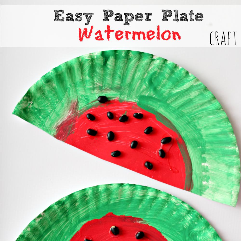 watermelon suncatcher craft
