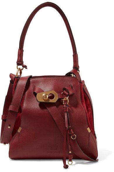 330f8fdce658 Claret textured-leather and suede (Calf) Snap fastening at open top  Designer color  Sienna Red Comes with dust bag Weighs approximately Made in  Italy