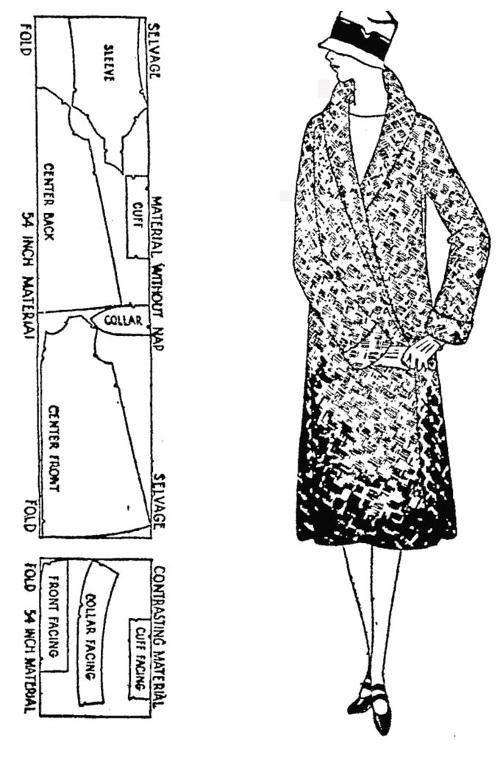 Free 1920s sewing pattern Fancy Flapper Coat   sew sew ...