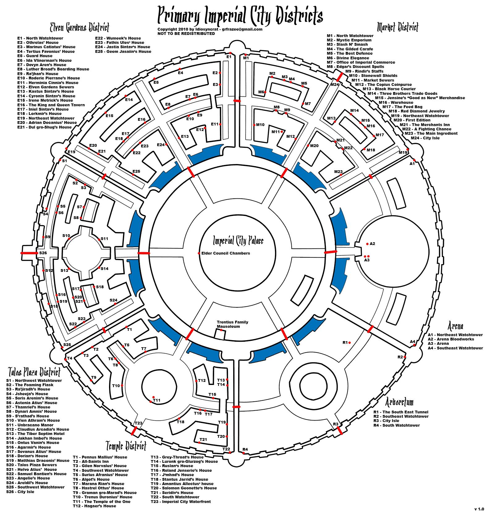 The Elder Scrolls IV: Oblivion Primary Imperial City