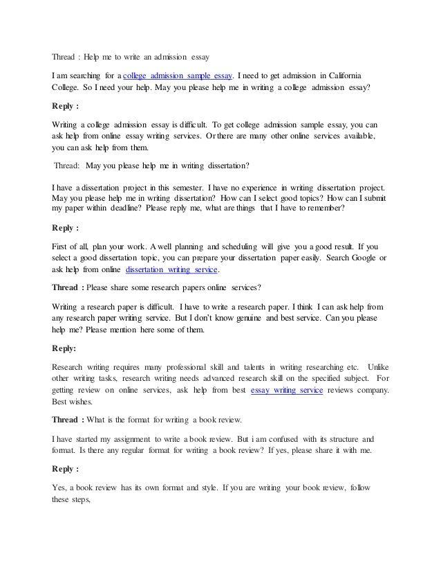 Admission essay writer online