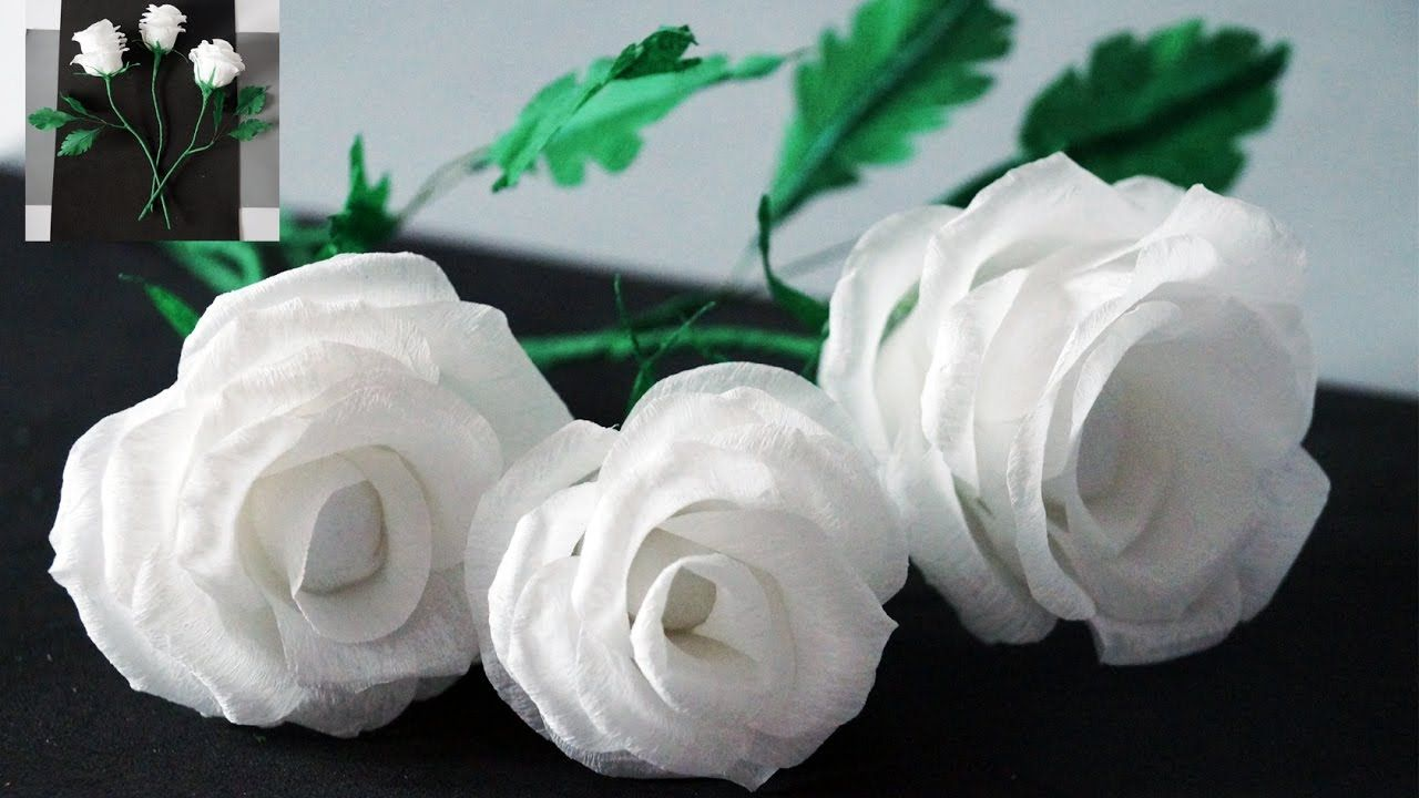 Flowers Making How To Make Rose Tissue Paper Crepe Paper Flower