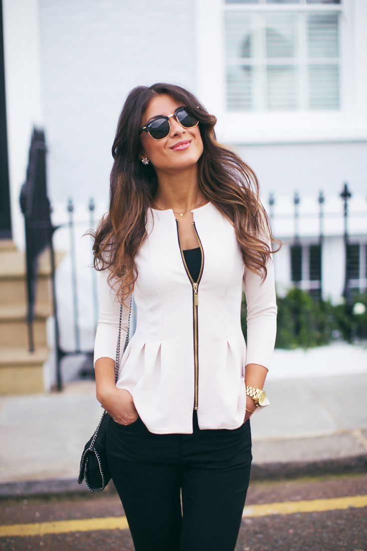 latest fashion trends street style collarless white