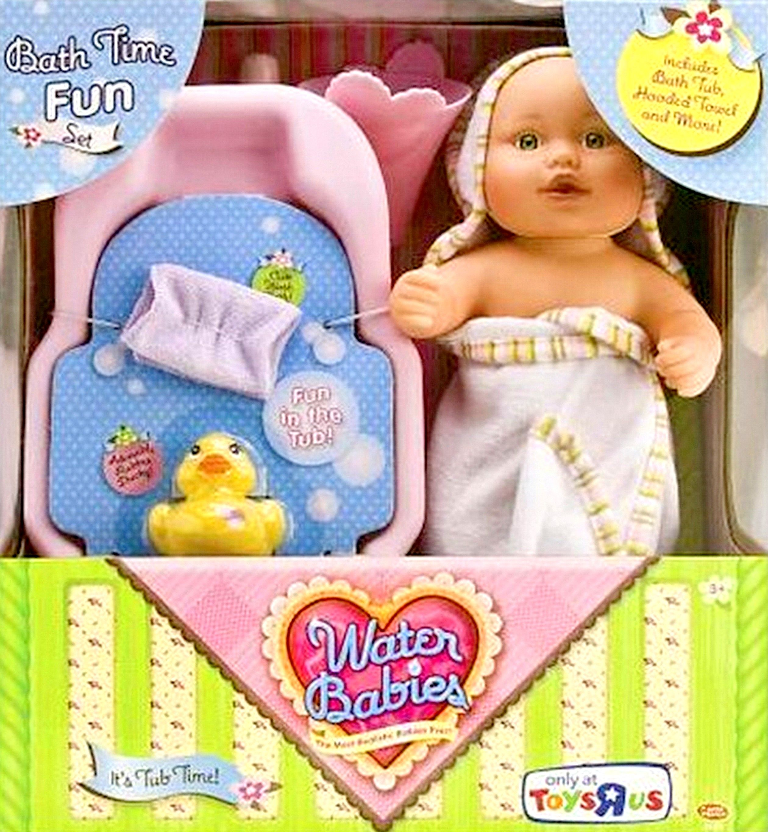 NEW Water Babies Newborn Baby Doll Bath Time Fun Toy Set Bathtub