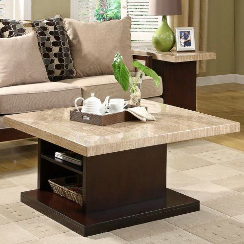 Homelegance Schmid Faux Marble Top Tail Table With Shelf Cream And Dark Cherry Home Kitchen 3 Pinterest Tailarble