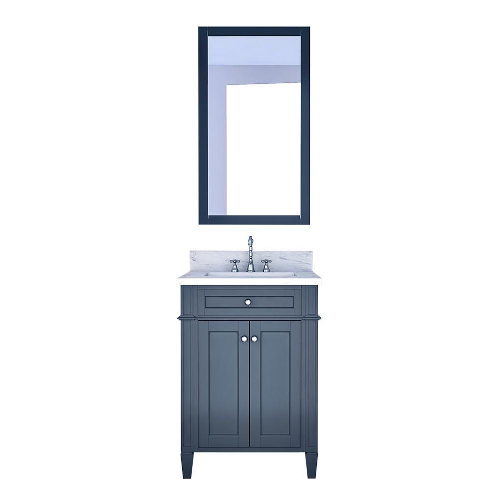 Design Element Birmingham 24 In W X 22 In D Bath Vanity In Gray