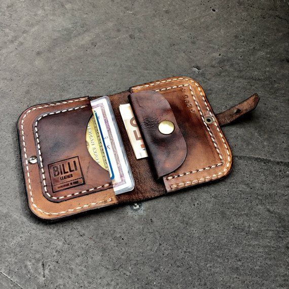 hand made leather wallet