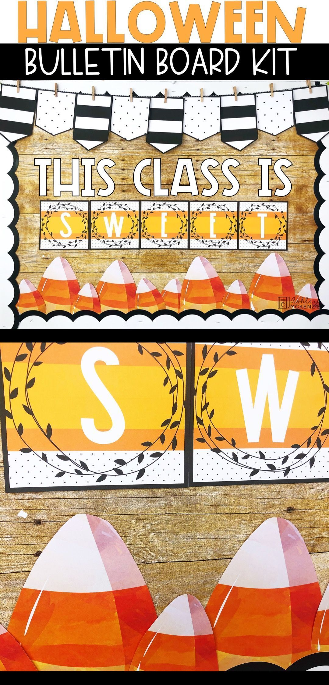 Candy Corn Halloween Bulletin Board #halloweenbulletinboards If you are looking for a fun Halloween Bulletin board idea for your classroom this is it! The Candy Corn Halloween Bulletin Board kit is so easy to put together and will make your board pop this October! #octoberbulletinboards Candy Corn Halloween Bulletin Board #halloweenbulletinboards If you are looking for a fun Halloween Bulletin board idea for your classroom this is it! The Candy Corn Halloween Bulletin Board kit is so easy to put #octoberbulletinboards