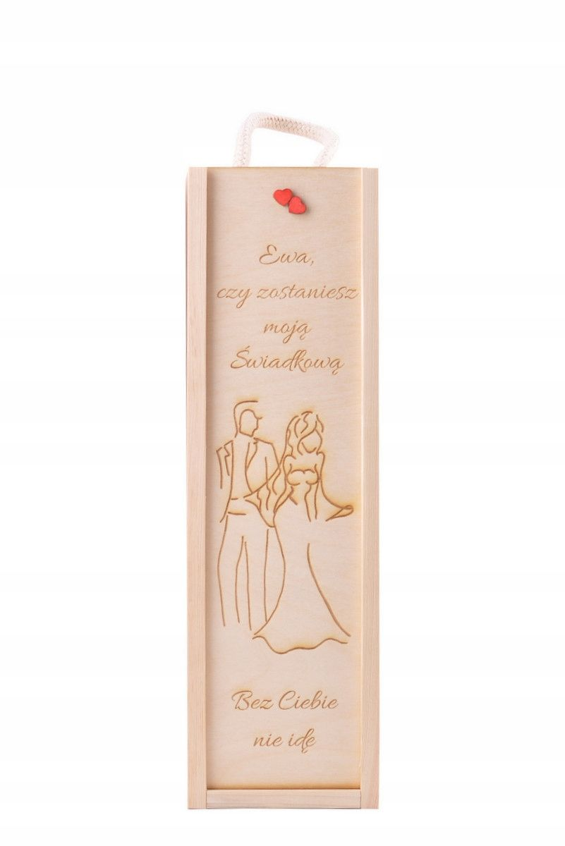 Eko Skrzynka Na Wino Grawer Dla Swiadkowej Prezent 7569287821 Oficjalne Archiwum Allegro Wood Wine Box Wine Gift Boxes Decoupage Box