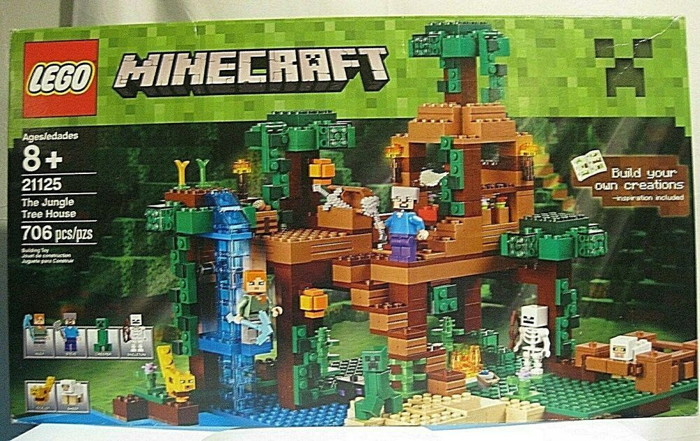 New In Box Lego The Jungle Tree House Minecraft 21125 Retired